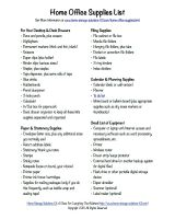 ... Printable Home Office Supplies List  Printable Office Supply List