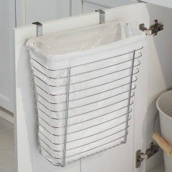 over the cabinet door trash can holder