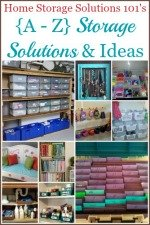 {A-Z} Storage Solutions & Ideas