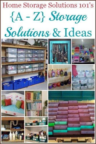 {A-Z} home storage solutions
