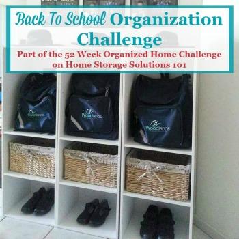 Back to school organization challenge