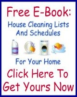 free house cleaning checklist ebook