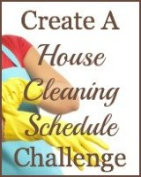 create a house cleaning schedule challenge