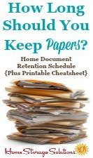 How long should you keep papers? Home document retention schedule, plus printable cheatsheet