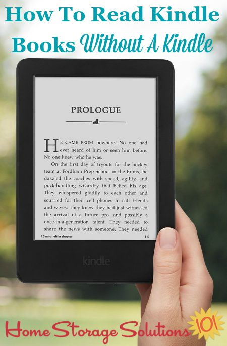 Don't let the lack of a #Kindle reader keep you from getting a book you want. Here's how to read Kindle books even without owning a Kindle or when you don't have this device with you. {on Home Storage Solutions 101} #EBooks #ReadingApp