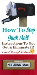 How to stop junk mail, including instructions to opt out and eliminate it