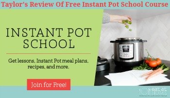 Taylor's review of free Instant Pot School course