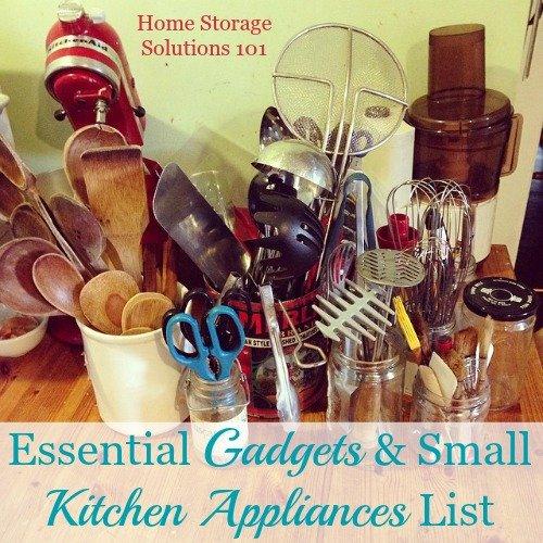 Essential Gadgets Amp Small Kitchen Appliances List