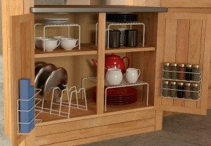 kitchen cabinet organizer set