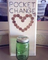 laundry change jar and sign