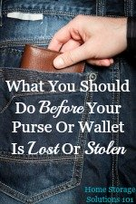 what you should do before your purse or wallet is lost or stolen
