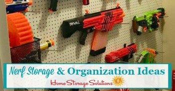 Nerf storage and organization ideas