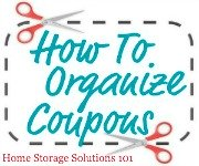 organize coupons challenge
