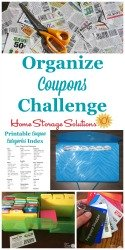 How To Organize Coupons Challenge