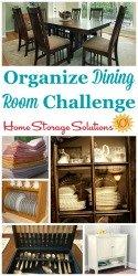 organize dining room challenge