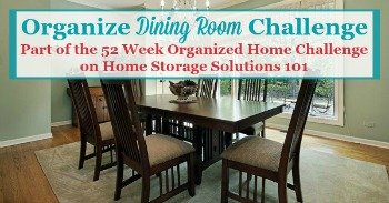 Organize Dining Room Challenge