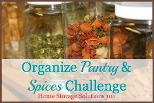 Organize Pantry & Spices Challenge