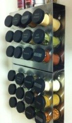 stainless steel spice rack