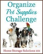 Organize pet supplies challenge