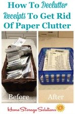How to declutter receipts to get rid of paper clutter