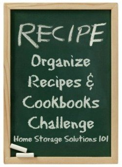 How to #organize recipes and cookbooks {part of the 52 Weeks to an Organized Home Challenge on Home Storage Solutions 101} #OrganizedHome #HomeStorageSolutions101