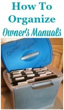 How to organize owner's manuals and warranties