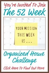 join the 52 Week Organized Home Challenge