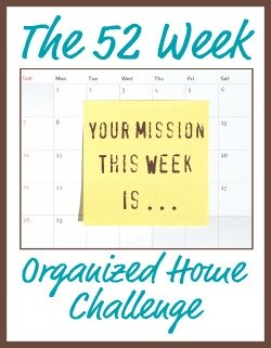 I'm joining the free 52 Week Organized Home Challenge on Home Storage Solutions 101! #52WeekChallenge #OrganizedHome #HomeOrganization