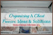 tips for organzing a chest freezer