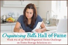 organizing bills hall of fame