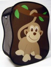 kids monkey laundry hamper
