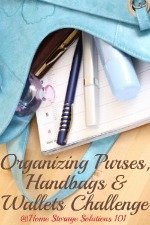 Organizing Purses & Wallets Challenge