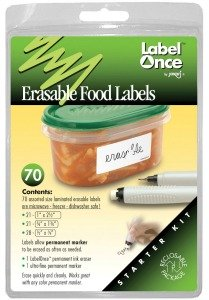 erasable food container labels