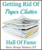 getting rid of paper clutter hall of fame