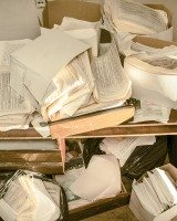 lots of paper to declutter