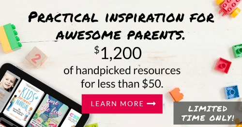 The Parenting Super Bundle has 80 resources to help you with the toughest and most rewarding job you'll ever have, parenting, including printables, eBooks and eCourses that are worth more than $1,200. It's one of the closest things to an instruction manual for parenting you can find {more information here