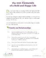 personal development goals checklist, page 1
