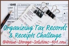 Organize receipts and tax documents challenge