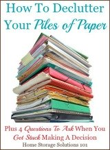 how to declutter your piles of paper