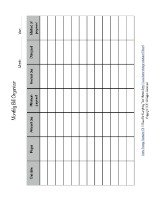 printable monthly bill organizer form