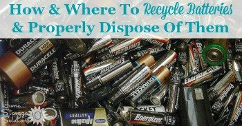 How and where to recycle batteries and properly dispose of them
