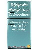 refrigerator storage chart & guidelines