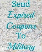 send expired coupons to military