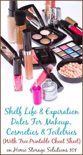 Helpful information about the shelf life and expiration dates of makeup, cosmetics and toiletries, ...