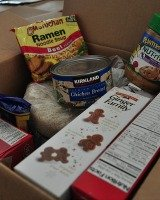 donate unperishables to food pantry