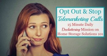 How to opt out and stop telemarketing calls