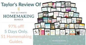 Taylor's review of the 2020 Ultimate Homemaking Bundle