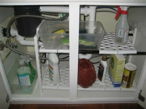 under sink shelf organizer