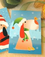 used Christmas cards