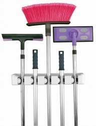 mop and broom organizer